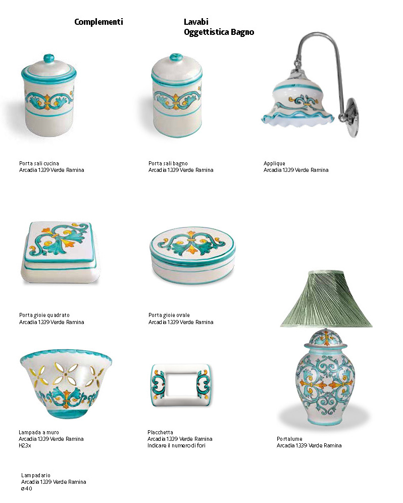 Oggettistica bagno ceramica francesco aceto vietri sul mare - Oggettistica bagno ...